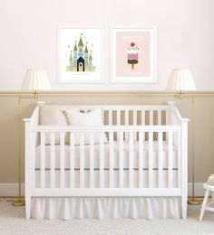 Decorate your nursery with magical kids wall art from Pear Tree Greetings! #decor #baby #nursery
