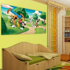 fotomural Mickey & Friends in the Paerk FTDH-0623 http://papeldeparedeonline.com/2013/03/21/murais-panoramicos-disney/
