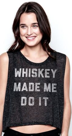 LATEST whiskey crop top