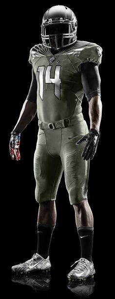2014 Oregon Spring Football Uniform - Home Olive Design