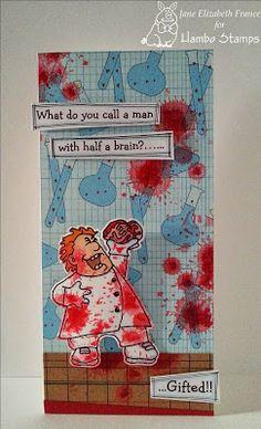 Mad Scientist digi by Hambo Stamps, card by Jane Elizabeth France
