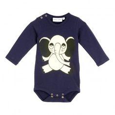 Mini Rodini: New for Fall '15 Elephant Organic Cotton Baby Grow