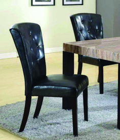 Amazing offer on Roundhill Furniture Big Thick Black Button Back Dining Parsons Chairs, Set 2 online - Lovetopfashion Cheap Dining Room Sets, Diy Dining Room Table, Dining Room Furniture, Furniture Sets, Furniture Design, Dining Chairs, Furniture Plans, Dining Rooms, Glider Rocker Recliner