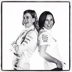 Susie and Claire /Williams Martini Racing