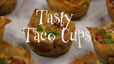 Tasty taco filling layered with melted cheese in crispy wonton wrappers makes the perfect appetizer. What's even better is that they're super easy to make and just as yummy made ahead of time and reheated!