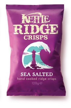 """Beautiful new work from Turner Duckworth for the UK launch of Kettle Ridges: """"The brief from Kettle Foods was to communicate the everyday youthful positioning of Kettle Ridge Crisps."""""""