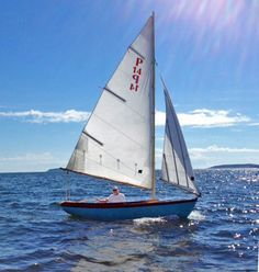 The Paine 14 – A Herreshoff – inspired daysailor – Chuck Paine Yacht Design LLC Spirit Yachts, Lakefront Property, Adirondack Mountains, Parasailing, Yacht Design, Boat Rental, Lake George, The Day Will Come, Boat Tours