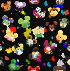 Etsy :: Your place to buy and sell all things handmade Mickey Mouse Art, Mickey Head, Apple Watch Wallpaper, Iphone Wallpaper, Disney Art, Disney Love, Disney Dudes, Walt Disney, Toy Story Fabric