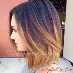 @prettygirltips Short dark to blonde ombre hair