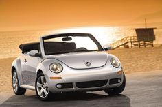 VW Beetle convertible - if only mine were a rag top, it would look like this.  Ahhh.