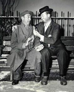 Red Skelton as Freddie the Freeloader and Allen Jenkins as Freddie's pal, Muggsie on The Red Skelton Show - 1958