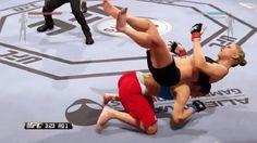 Os bugs no mais novo jogo de UFC são divertidos. Mas comentados por pessoas que fingem ser comentaristas reais de MMA? São hilariantes.