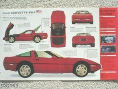 1990 / 1991 / 1992 CHEVROLET ZR-1 / ZR1 CORVETTE IMP Brochure