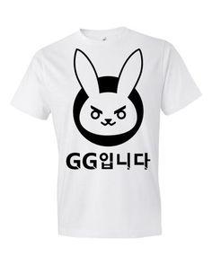 Overwatch D.VA GG Rabbit - Short sleeve t-shirt