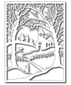 Frantic Stamper - Precision Dies - Winter Church in the Wildwood Panel