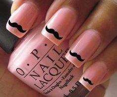 because every girl's nails should have a mooztashe ;)