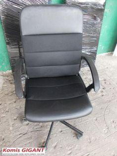 Komis GIGANT - Krzesło obrotowe czarne TANIO