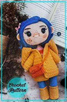 Doll Amigurumi Free Pattern, Crochet Cat Pattern, Crochet Amigurumi Free Patterns, Amigurumi Toys, Crochet Fairy, Cute Crochet, Halloween Crochet Patterns, Halloween Crochet Hats, Little Doll