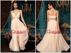 A  Line  V  Neck  Chiffon  Sleeveless  Floor  Length  30798  Prom  Dresses