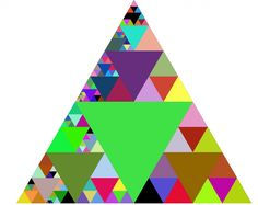 Zoomable Sierpinski Triangle. Scroll to explore  the (almost) infinite depths of the triangle.