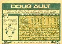 1977 O-Pee-Chee #202 Doug Ault Back