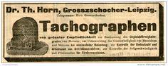 Original-Werbung/ Anzeige 1903 : TACHOGRAPHEN / DR.HORN GROSSZSCHOCHER- LEIPZIG - ca  145 x 50 mm