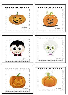 Spookjesspel Juf Berdien 1 kaartjes Halloween thema griezelen spookjes volledige spel Facebookgroep: 'Juf Berdien'