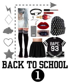 """""""#School"""" by clareey ❤ liked on Polyvore featuring A BATHING APE, Converse, Yves Saint Laurent, MICHAEL Michael Kors, Vanessa Mooney, Vero Moda and Topshop"""