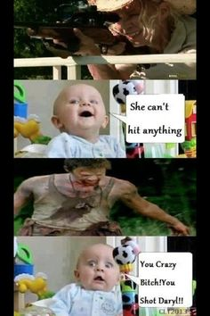Tears in my eyes from laughing at this one daryldixon normanreedus thewalkingdead baby