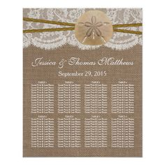 The Rustic Sand Dollar Beach Wedding Collection Poster