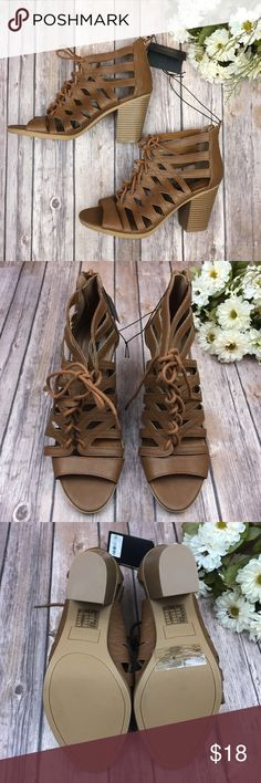{Forever 21} Faux Leather Gladiator Open Toe Heels Brand new + never worn! Has a zipper back and  a few tiny flaws, that aren't noticeable (image 3 + 4) but in overall great condition.  Heel height - 3 inches  🌟 Please note:  I don't do trades or lowballs. Forever 21 Shoes Heels