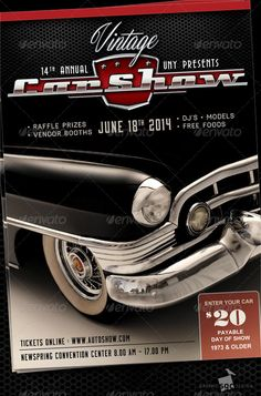 Classic Car Show - Events Flyers