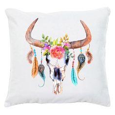 Bull  hobo - Coussin - blanc - An Famille - Ref: 1801436   Brandalley