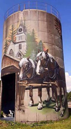 Home Design Drawings Belgians mural on grain bin Country Barns, Old Barns, 3d Street Art, Street Art Graffiti, Art Du Monde, Barn Pictures, Barn Art, Country Scenes, Barn Quilts