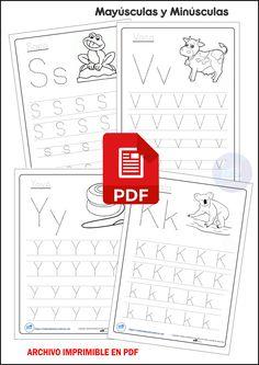 School Hacks, School Projects, Preschool Printables, Alphabet, Homeschool, Activities, Education, Barbacoa, Preschool Alphabet Activities