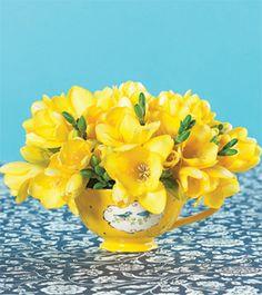 tips for making teacup flower arrangements