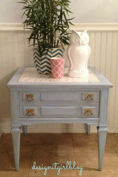 Pretty End Table Gets Saved From The Landfill