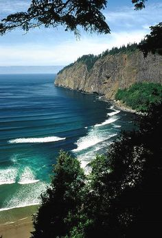 Tillamook Cape Lookout. Oregon.  Loved this coastline.  Saw it at a Balta Reunion in 1997. Dee Mills