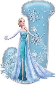 Alfabeto de Elsa con Vestido de Gala.                                                                                                                                                                                 Más Frozen Tea Party, Frozen Birthday Party, Birthday Parties, Frozen Disney, Elsa Frozen, Disney Disney, Disney Fonts, Frozen Cupcake Toppers, Frozen Font