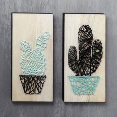 String Art kaktus på ikonplade
