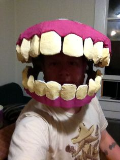 This would be good start to a homemade little shop of horrors plant mask for Halloween fancy dress