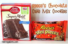 If you're a Reese's fanatic, you're going to LOVE these Reese's Triple Chocolate Fudge Cake Mix Cookies! Just 4 ingredients! Cake Mix Cookie Recipes, Yummy Cookies, Cupcake Cookies, Cookie Mixes, Reese's Cookies, Cupcakes, Köstliche Desserts, Delicious Desserts, Dessert Recipes