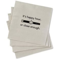 Happy Hour Beverage Napkins, Pack of 20