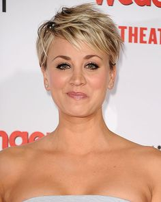 10 times Kaley Cuoco showed us how to style short hair.