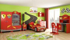 Fascinating Design Ideas You Can Find in Rhapsody Children's Beds : Childrens Beds Juegos Camas Saltarinas Juegos Camas Matrimoniales Camas Juegos Olimpicos Camas Pirate Fantasy Childs Playroom With Bordered Walls Dragon Red Car Boys Bedroom Furniture, Kids Furniture, Kids Bedroom, Boy Car Room, Baby Boy Rooms, Race Car Bedroom, Best Bedding Sets, Comforter Sets, King Comforter