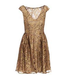 Gold lace dress by Issa #Matchesfashion