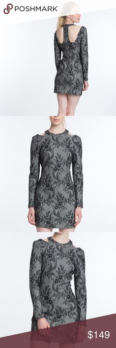 "$248 TRACY REESE FLORAL LACE SHEATH DRESS NEW WITH TAGS  $248  PLENTY BY TRACY REESE LONG SLEEVE FLORAL SHEATH DRESS  WOMENS SIZE MEDIUM  Shoulder cutouts enchants this floral sheath dress Round neckline Long sleeves Pullover style About 28"" from shoulder to hem Polyester/cotton Dry clean Imported Plenty by Tracy Reese Dresses Long Sleeve"