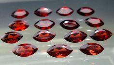 4x8 MM 11 Carat Natural Mozambique Red Garnet Marquise Cut Shape 15 Pieces Lot #Unbranded