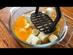 Bate 2 huevos y 2 plátanos y tendrás un postre excepcional - YouTube