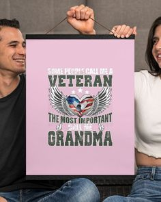 Some People Call Me A Veteran - The Best Grandma - Classic Pink navy wife life, veterans day quotes, military wife meme #VeteransWife #womanpreneur #risktaker